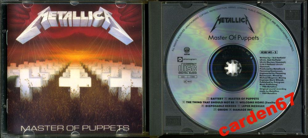 METALLICA =MASTER OF PUPPETS= WEST GERMANY PDO CD