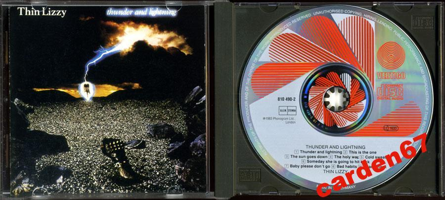 THIN LIZZY =THUNDER AND LIGHTNING= 1983 WEST GERMANY PDO CD