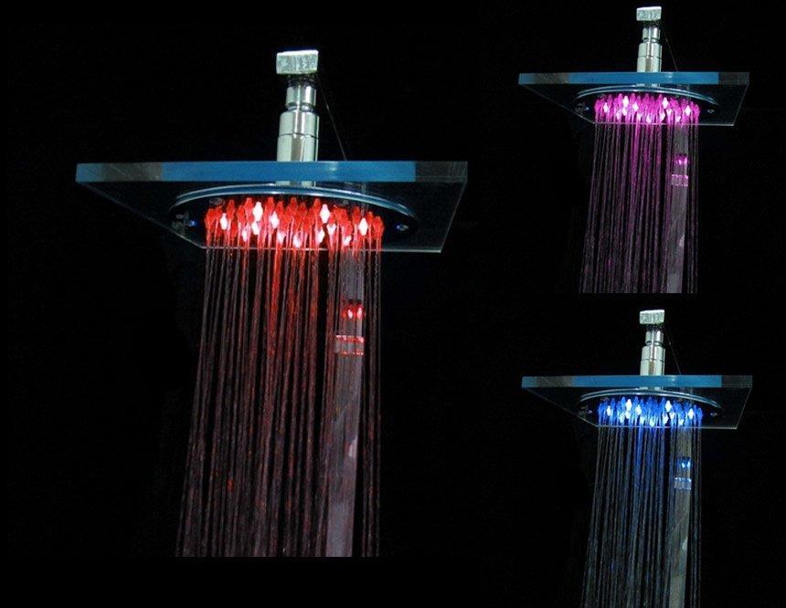 """8"""" светодиодная светящаяся лейка насадка на душ"""