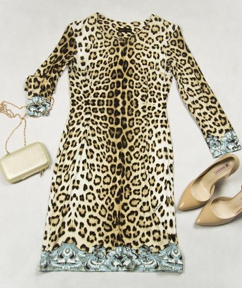 Платье леопардовое от роберто кавалли