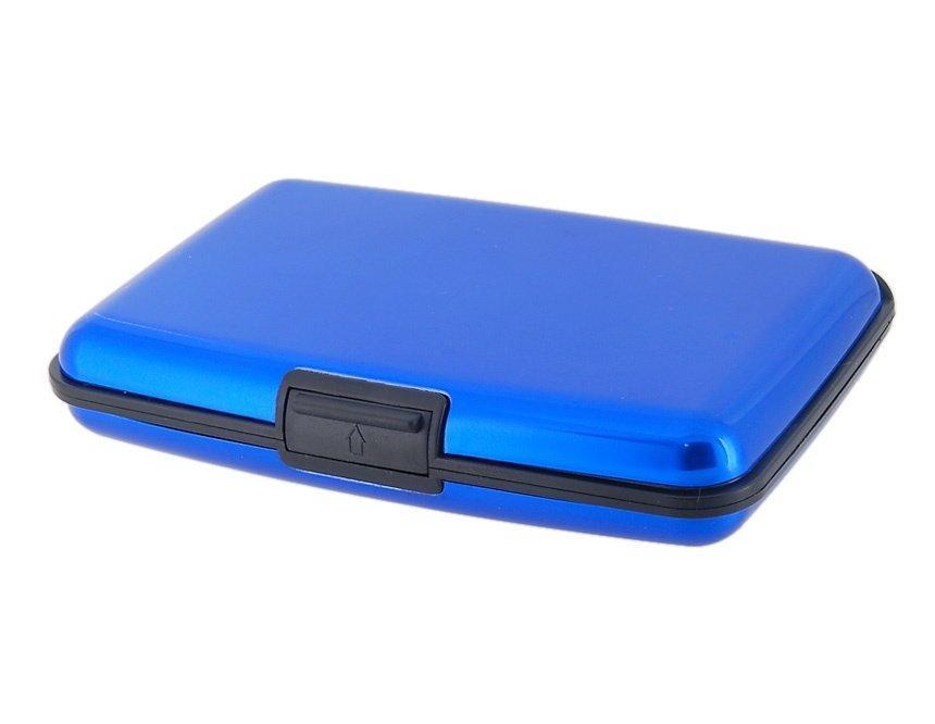 Стильная металлическая алюминиевая кредитница с защитой от размагничивания кредитных карт