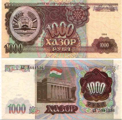 тысяч рублей на таджикистан сюда