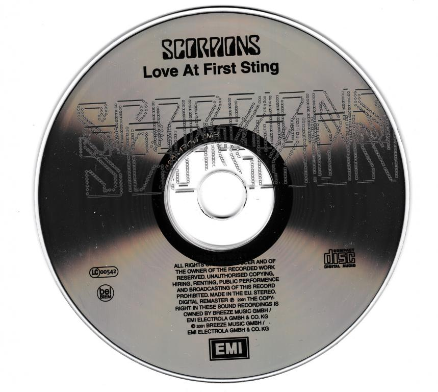 CD Scorpions - Love at first sting 1984