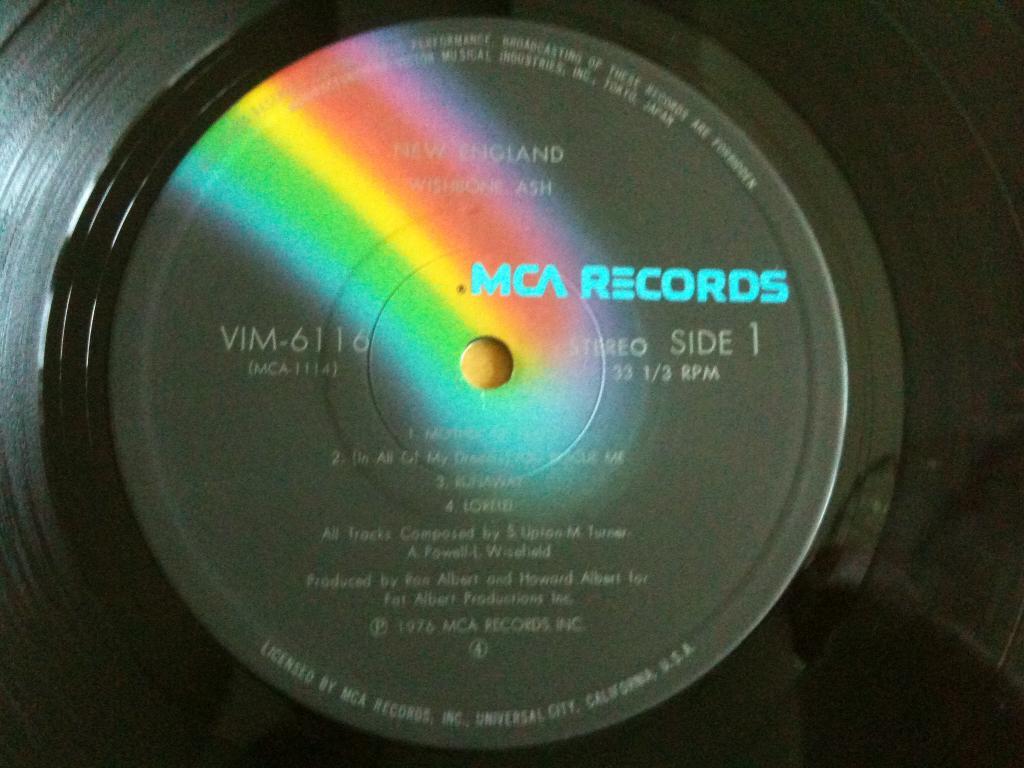 Пластинка Wishbone Ash New England 1976 + poster