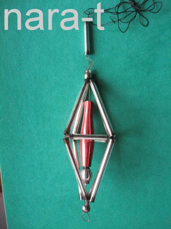 Ёлочная игрушка. Фонарь, стекло! 1940-50-х гг.