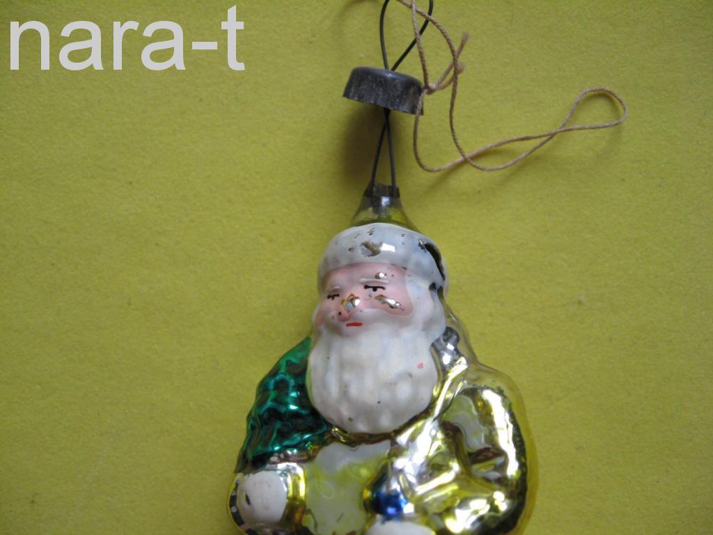 Ёлочная игрушка. Дед мороз. стекло.