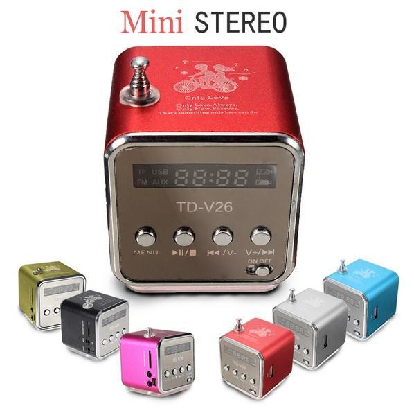Мини радиоприемник V-26 колонка динамик с FM радио USB / FM / MP3 / TF