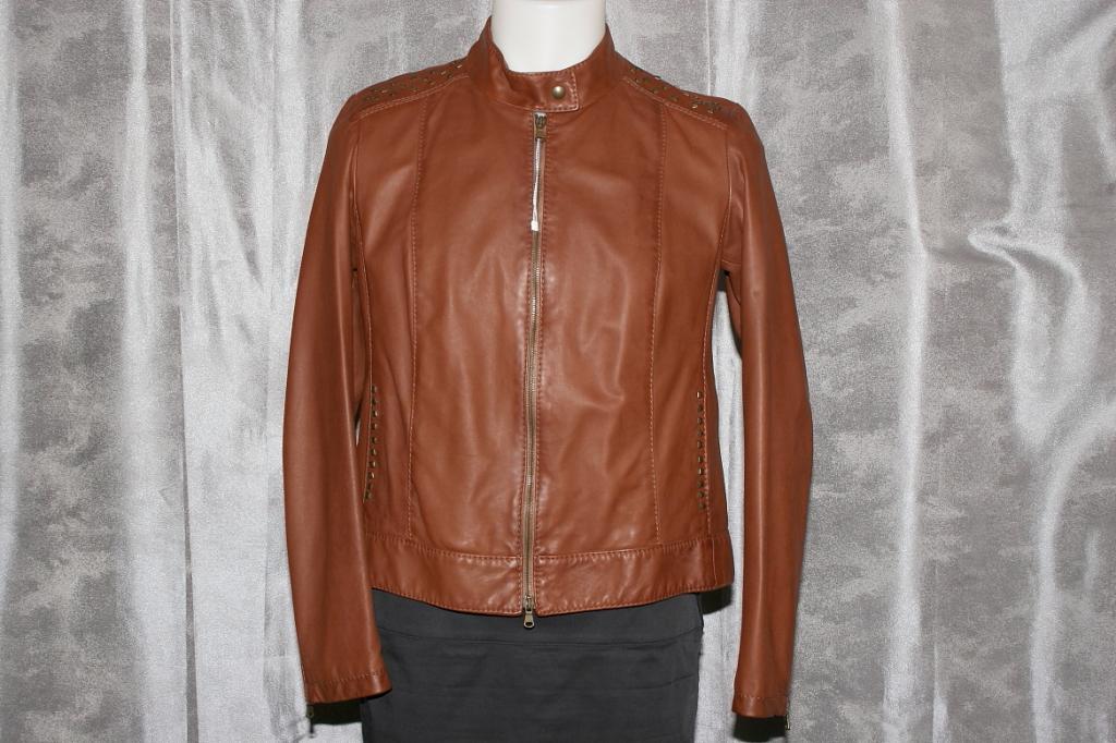 Куртка кожаная новая Max Mara р.48-50 Италия