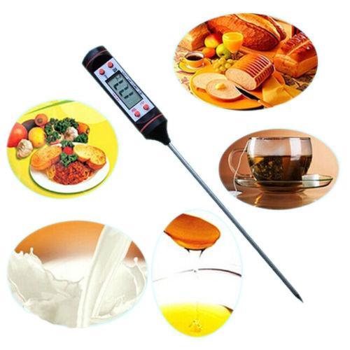 Цифровой электронный кухонный термометр градусник приготовление пищи напитков еды 4кнопки управления