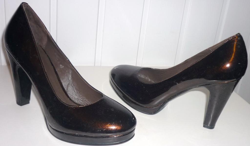 Туфли коричневые платформа  каблук р.39-39,5