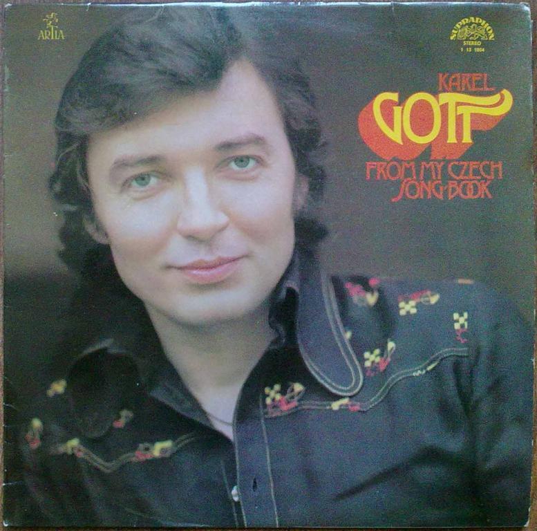 KAREL GOTT from my Czech song-book LP VG+VG/EX+
