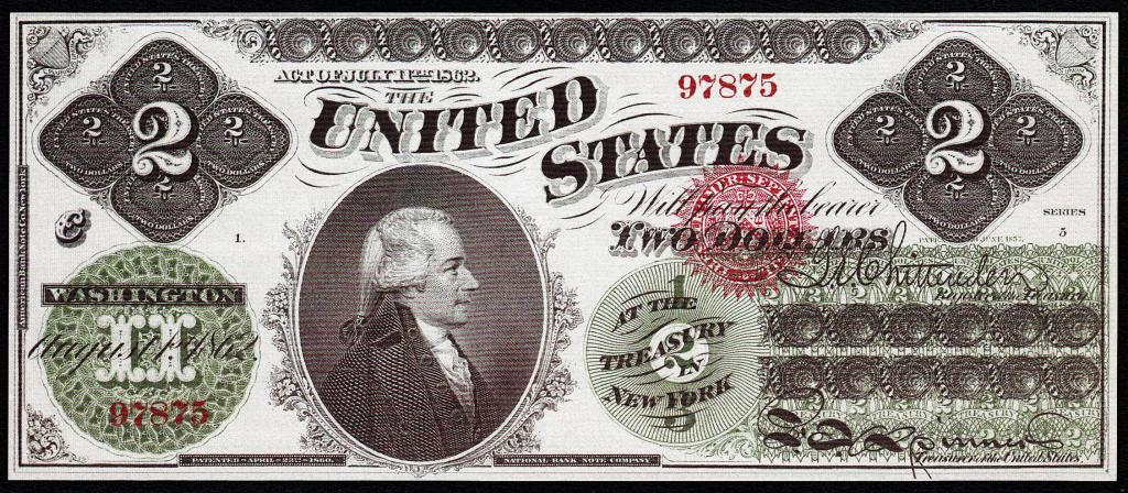 1862 $100 dollar confederate states america paper note money us