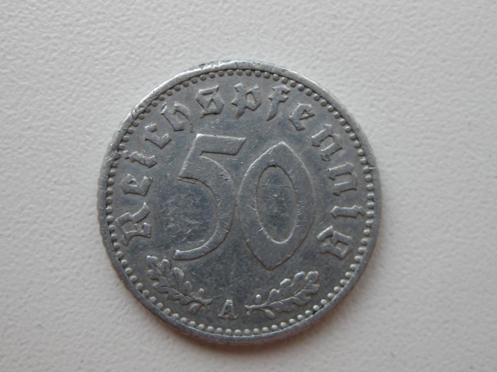 Третий рейх 50 пфеннингов 1939 A