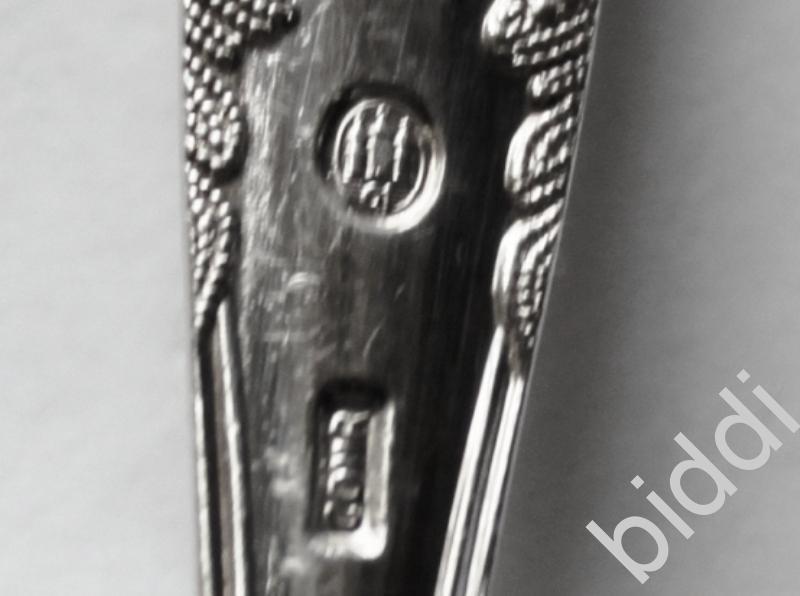 Ложки чайные 6 шт. Дания 1961 г. Серебро 826 пр.