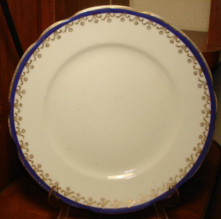Шесть десертных тарелок, Дулево, завод им.Правды, 1927 - 32, 17 см