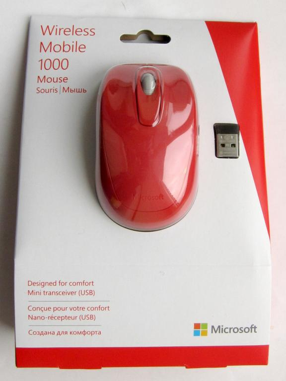 Microsoft Wireless Mobile Mouse 1000 Red USB