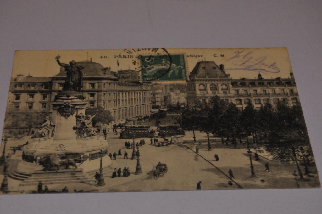 Народные открытки, открытка из парижа в москву