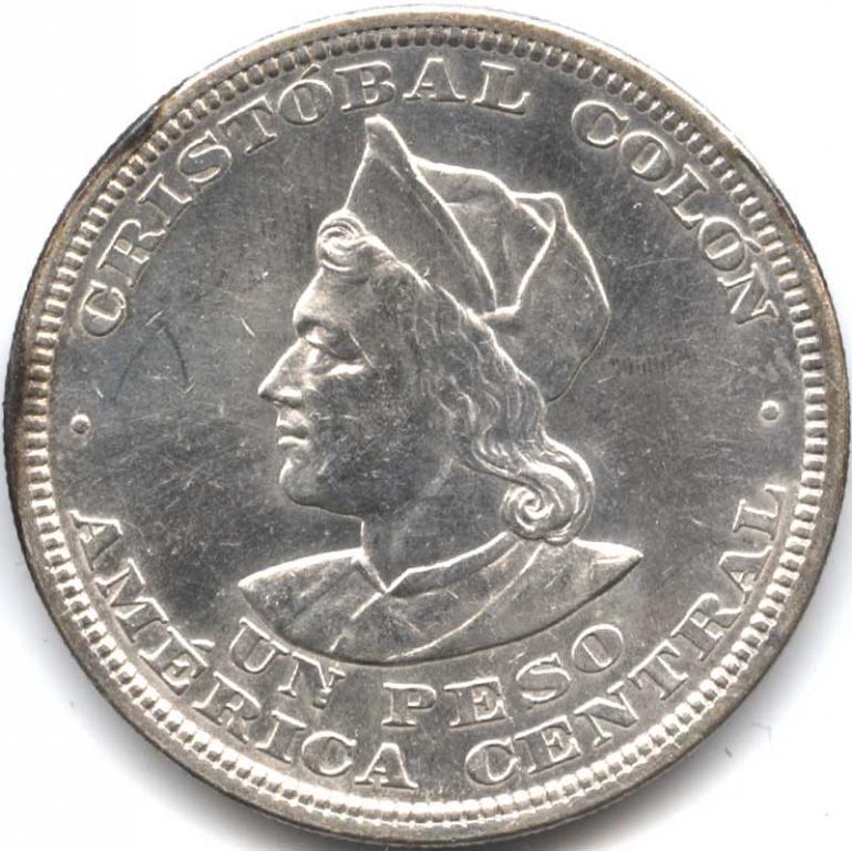 Сальвадор 1 peso 1914S Silver AUNC