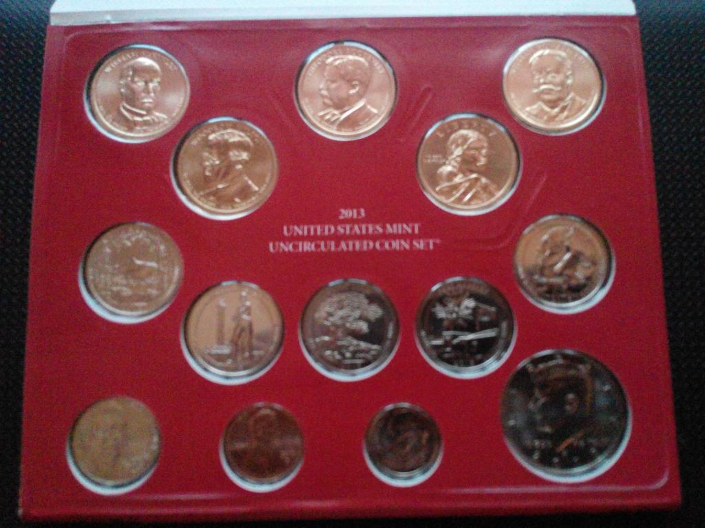 Годовой набор монет США 2013 (D и P)