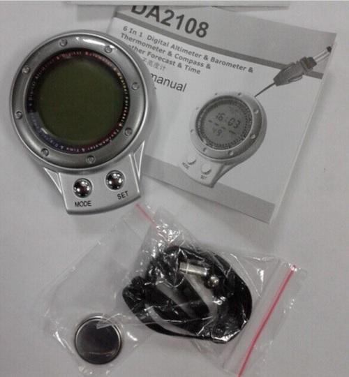 Многофункциональный цифровой альтиметр 6 в 1 DA-2108