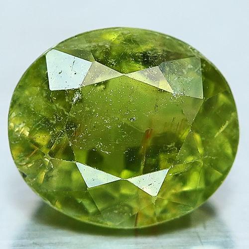 Природный зелёный нигерийский турмалин 2.23 ct. овал
