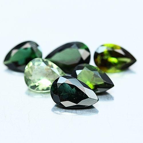 6.04 ct. натуральный турмалин капля 6 камней