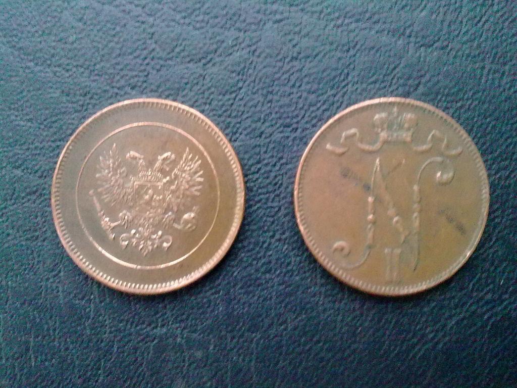 5 пенни 1917г. , орёл и вензель