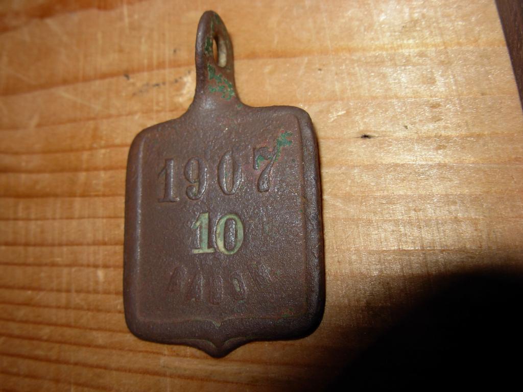 Знак жетон старинный радонъ бирка номер 10 1907г.
