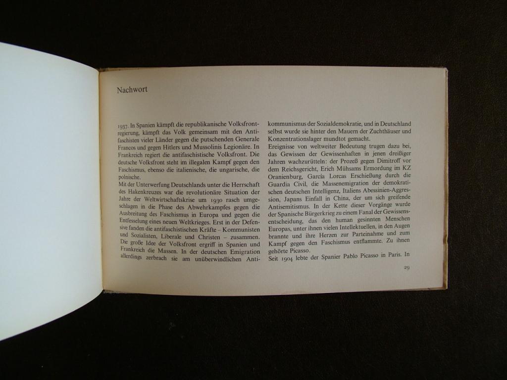 Pablo Picasso. Traum und Luge. Francos. 20 гравюр. 1968