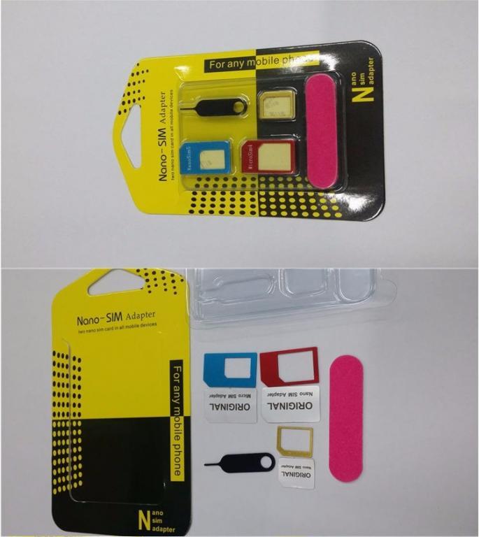 SIM адаптеры 5 в 1 высокое качество, позволяют изменять габариты сим кат телефонов с нождачкой