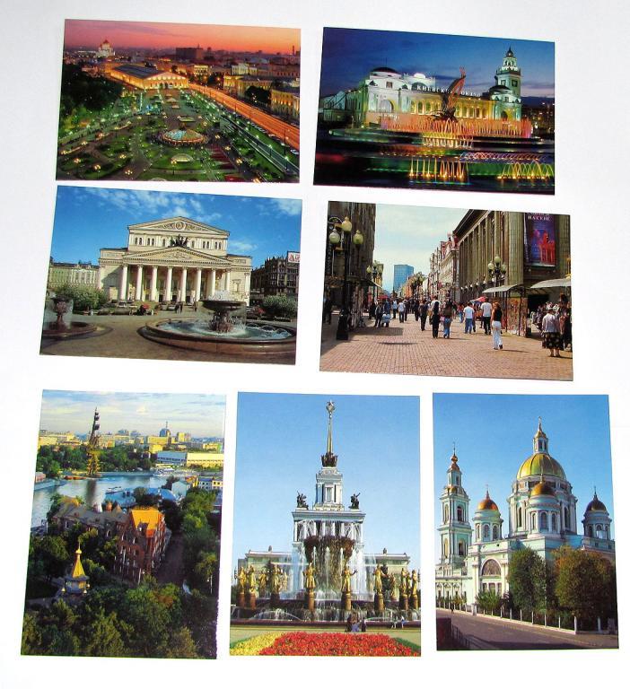 Подписывать, открытки с видами москвы набор