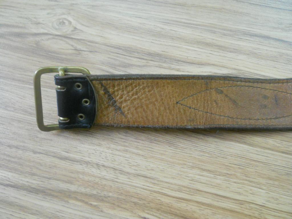 Ремень СССР морской офицерский кожа 89 см обрезан на ребёнка