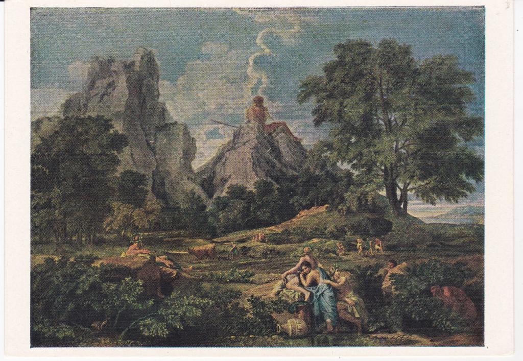 Пуссен никола, пейзаж с орфеем, 1651, лувр, париж