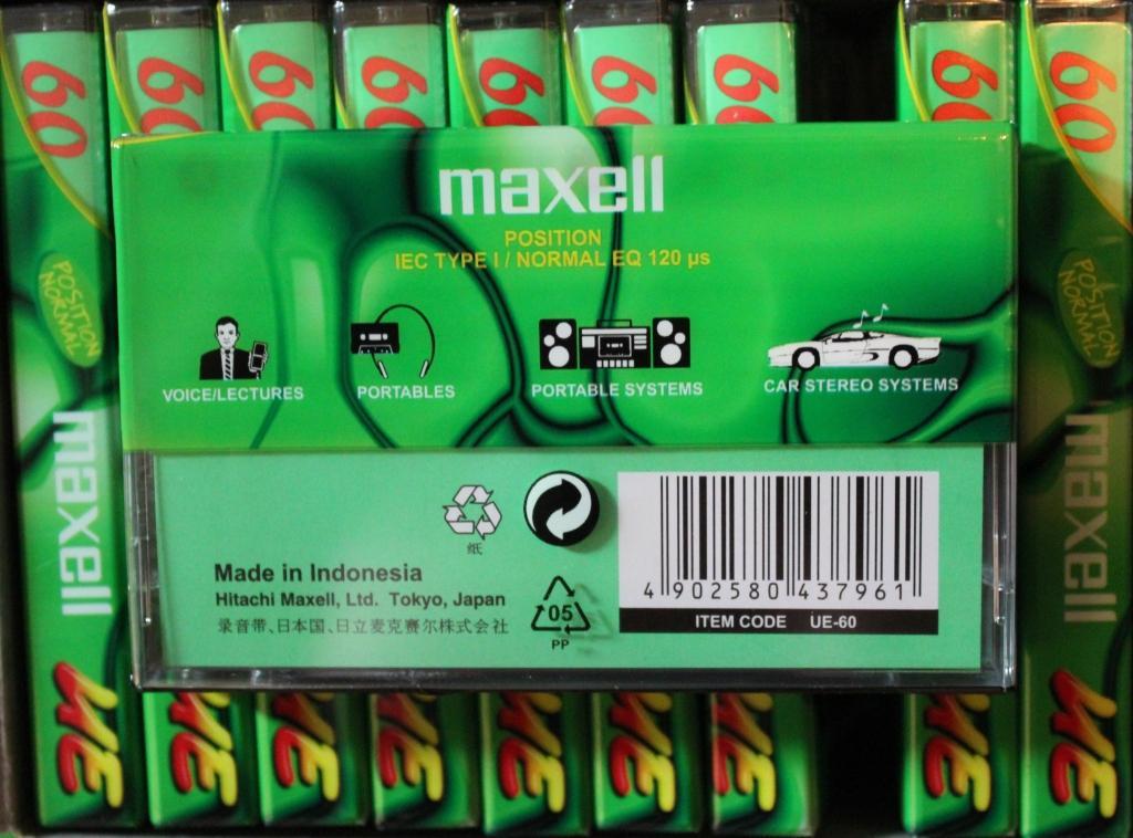 Аудиокассета MAXELL UE60 из блока