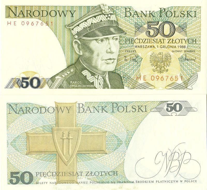 Польша 50 злотых 1988 P142c GH пресс unc