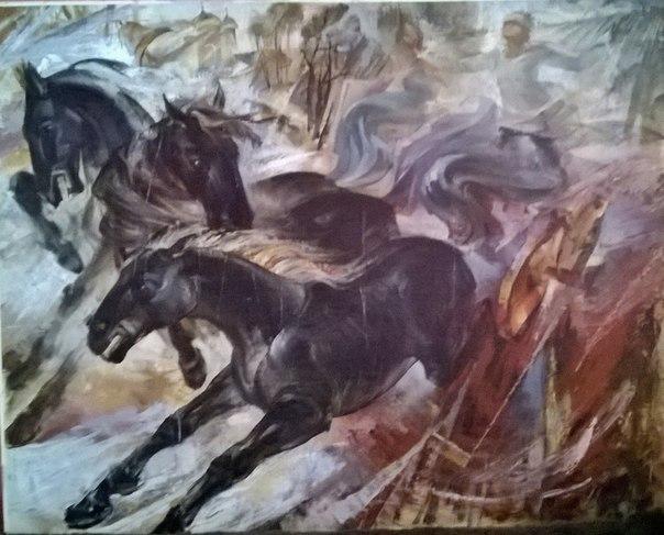 "Картина ""Тройка"" (оригинал) М. Головченко"
