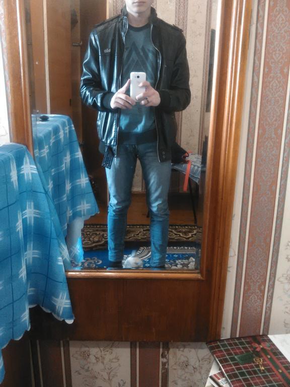 Кожаная мужская куртка Dolce & Gabbana