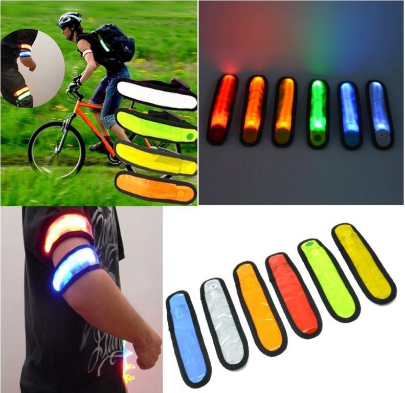 Светодиодная LED повязка браслет для велосипедиста и пешехода 37X