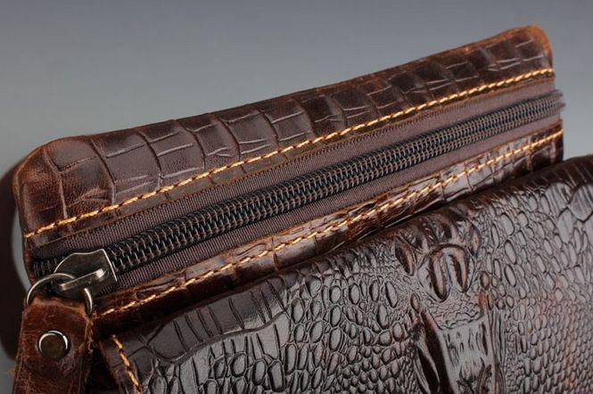Мужская сумка на плечо PU кожа крокодил #3