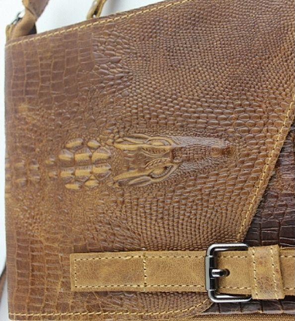 Мужская сумка на плечо PU кожа крокодил #1