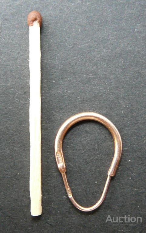 Серьга непарная,  золото 583, вес 0.95г, СССР, мало б/у. Золотая серьга.