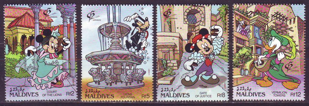 Мальдивы 1992 - Дисней. Филателистическая выставка *GRANADA`92*