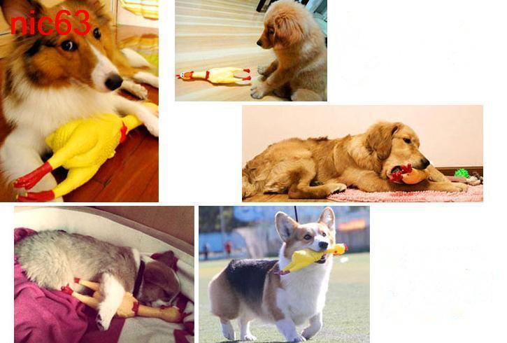 Забавная игрушечная резиновая кричащая курица 31см для себя и своего домашнего питомца собаки