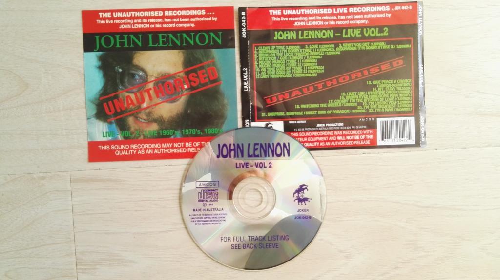 JOHN LENNON - LIVE – VOL. 2 (CD) Beatles