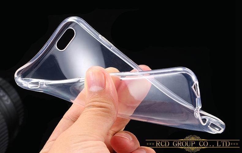Прозрачный Силиконовый Чехол(Клип-Кейс) для Iphone 4/4S/5/5S/6/6S: 10 Цветов.