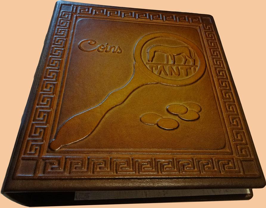 Альбом для монет из натуральной кожи. Готовые и  изготовление на заказ от 1 шт по Вашему эскизу.