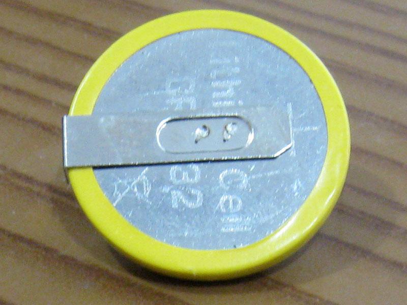 Батарейка для BIOS материнских плат ноутбуков типа CR2032 с горизонтальным расположением контактов