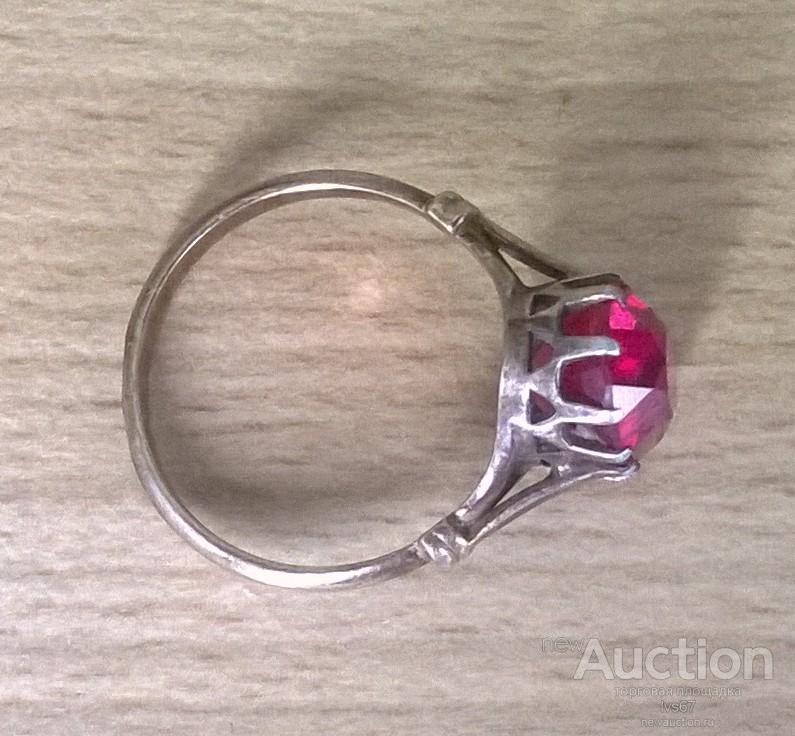 Кольцо перстень серебро 875 проба клеймо звезда времён СССР