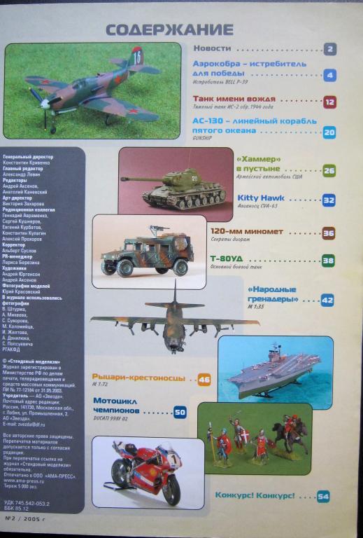журнал чертежей моделей самолетов