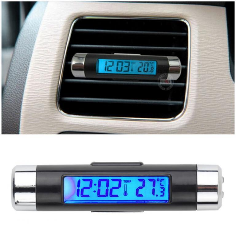 Автомобильные Часы - Термометр.